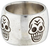Me & Ro Me&Ro Sterling Wide Skull Band