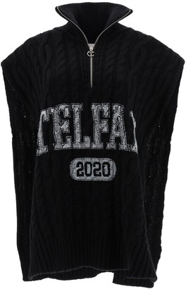 Telfar Logo Open Cable Knit Sweater