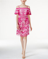 INC International Concepts Embroidered Cold-Shoulder Dress, Created for Macy's