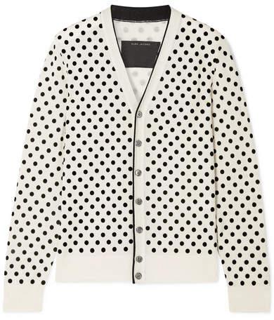 Marc Jacobs Flocked Wool Cardigan - Ivory