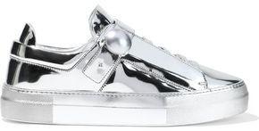 Nicholas Kirkwood Pearlogy Mirrored-leather Sneakers