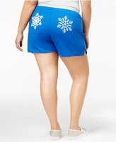 Soffe Curves Plus Size Snowflake Shorts, a Macy's Exclusive Style