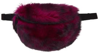 Vetements Pink Fur Belt Bag