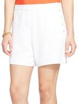 Lauren Ralph Lauren Sueded Crepe Shorts