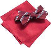 Alfani Red Bow Tie and Solid Pocket Square Set, Created for Macy's
