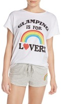 Junk Food Clothing Glamping is for Lovers Front Graphic Tee