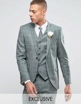 Heart & Dagger Slim Suit Jacket In Summer Wedding Check
