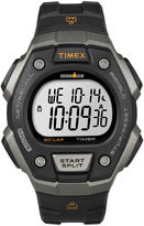 Timex Ironman Mens Black Bezel Black Resin Strap 30-Lap Chronograph Sport Watch T5K8217R