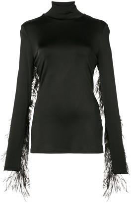 Proenza Schouler Ostrich Feather Top