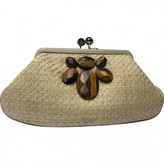 Anya Hindmarch Ecru Wicker Clutch bags