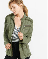 Express silky soft twill mini military parka