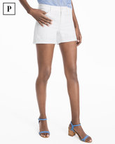 White House Black Market Petite Tonal Embellished Hem Shorts