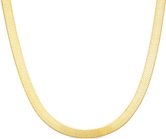 Sphera Milano 14K Over Silver Herringbone Snake Necklace