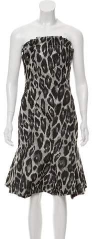 Lanvin Mini Animal Print Dress