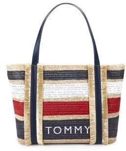 169983c0 Tommy Hilfiger Striped Piper Tote Bag