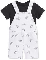 First Impressions 2-Pc. T-Shirt and Bike-Print Overall Set, Baby Boys (0-24 months), Created for Macy's