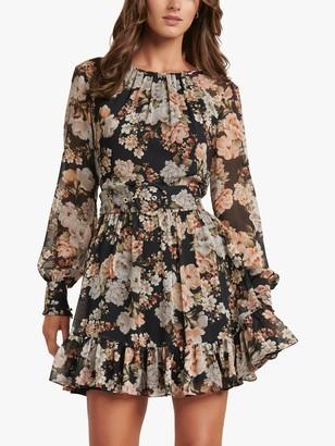 Forever New Abigail Belted Floral Mini Dress, Vintage Amber