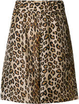 Alberto Biani leopard print shorts