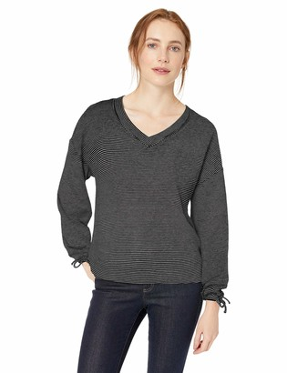 Daily Ritual Women's Supersoft Terry Tie Sleeve V-Neck Sweatshirt