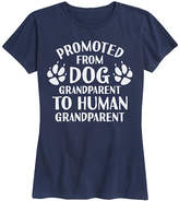 Instant Message Women's Women's Tee Shirts NAVY - Navy 'Promoted From Dog Grandparent' Relaxed-Fit Tee - Women