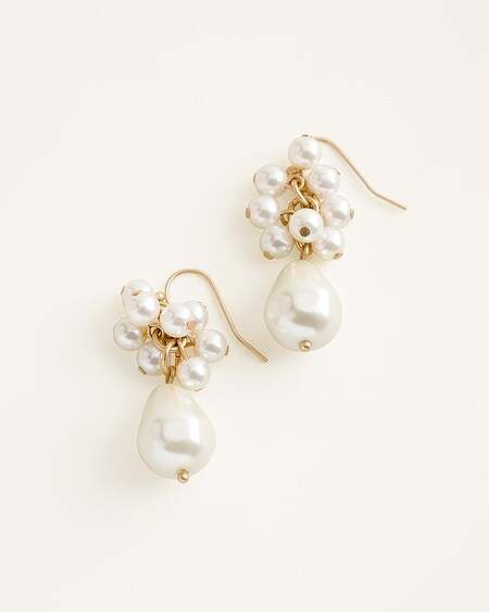 1f165569ac6ee Chicos Faux-Pearl Cluster-Drop Earrings
