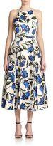 Milly Printed Halter Dress