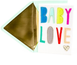 "Hallmark Signature New Baby Congratulations ""Baby Love"" Greeting Card"