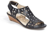 Me Too Women's Sienna Laser Cut Wedge Sandal