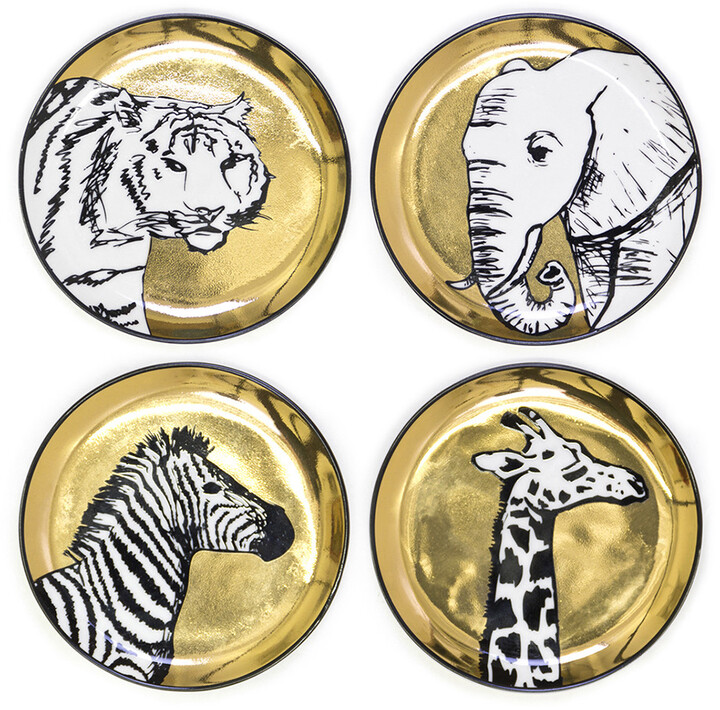 Jonathan Adler Animalia Coasters - Set of 4