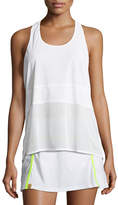 Monreal London Scoop-Neck Racerback Performance Tank, White