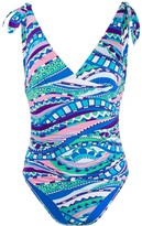 Emilio Pucci Graphic-Print Ruched Swimsuit