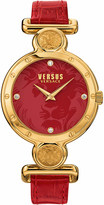 Versus SOL030015 Sunnyridge leather and IP gold watch