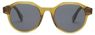 Fendi Round Acetate Sunglasses - Khaki