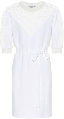 Stella McCartney Lace-paneled crApe dress