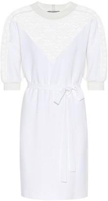 Stella McCartney Lace-paneled crepe dress