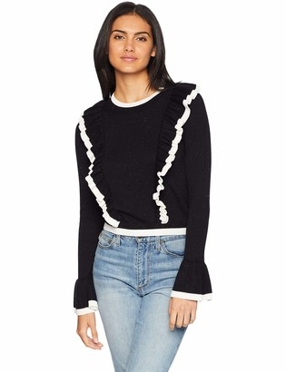 The Fifth Label Women's Transcript Knit Bell Sleeve Sweater with Ruffle Detail