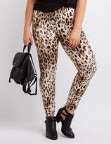 Charlotte Russe Plus Size Leopard Stretch Cotton Leggings