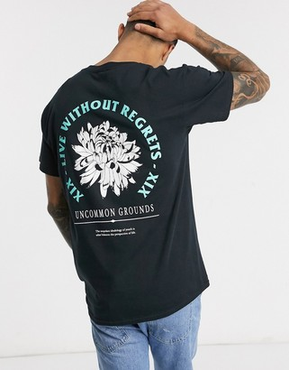New Look no regrets front and back print t-shirt in black