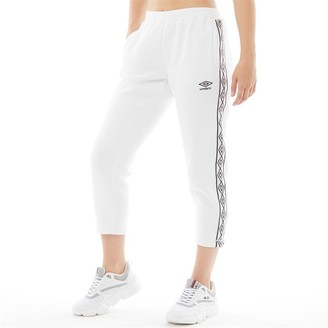 Umbro Womens Active Style Crop Taped Sweat Pants White