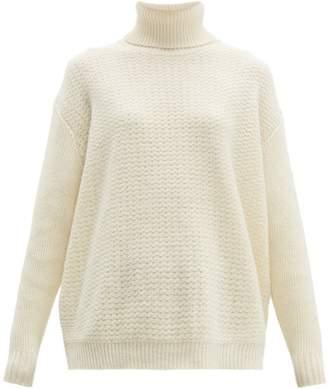 Marni Roll-neck Wool-blend Sweater - Womens - Ivory