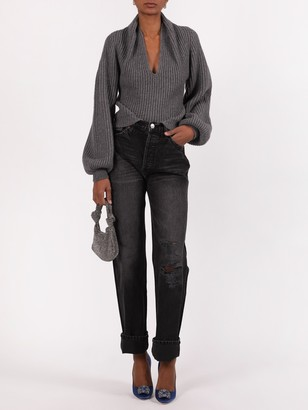 Alexander Wang Rubbed Pullover With Draped Details