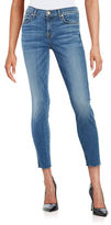 7 For All Mankind Raw-Edge Ankle Skinny Jeans