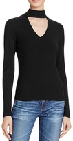 Aqua Long Sleeve Rib Peek V-Neck Top - 100% Exclusive