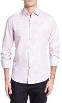 Stone Rose Men's Melange Textured Sport Shirt