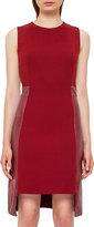 Akris Leather-Panel Side-Zip Sleeveless Dress, Miracle Berry