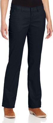 Dickies Women's Wrinkle Resistant Flat Front Twill Pant with Stain Release Finish