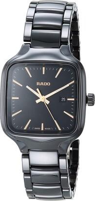 Rado True Square Swiss Automatic Watch with Ceramic Strap