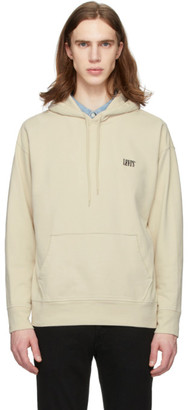 Levi's Levis Beige Serif Logo Original Pullover Hoodie