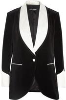 Dolce & Gabbana Silk Blend-trimmed Velvet Blazer - Black