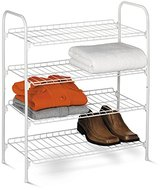 Honey-Can-Do SHO-01172 4-Tier Closet Accessory Shelf, White